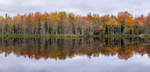 Fall color panorama and reflections