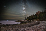The Milky Way over Hunter Beach