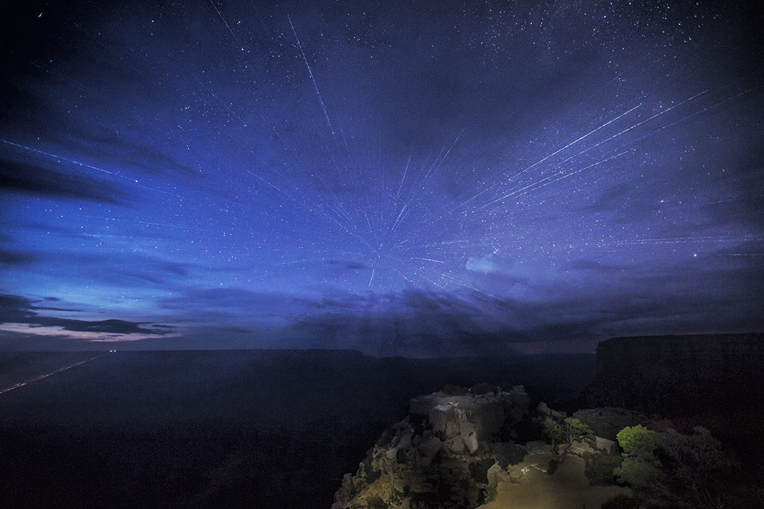 the Grand Canyon after dark