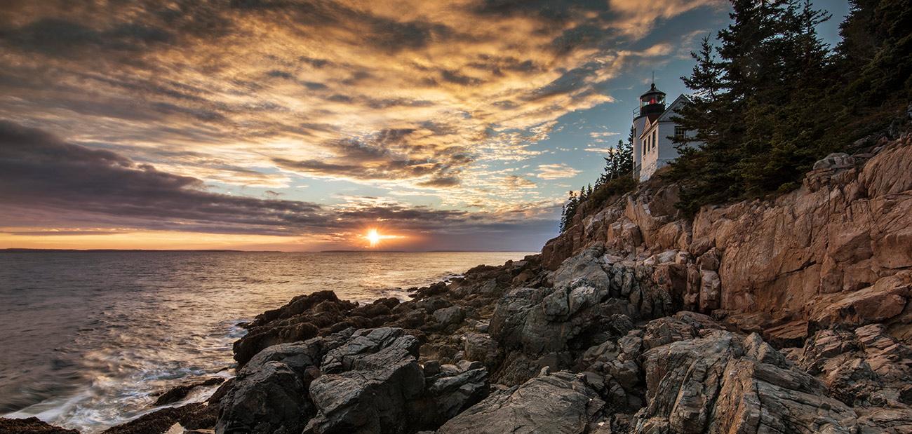 Bass Harbor Lighthouse in Acadia, Maine