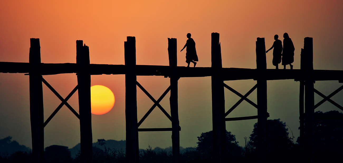 Ubein Bridge in Burma