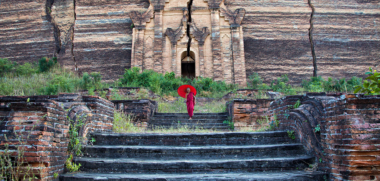 Monk in Mingun Temple, Burma