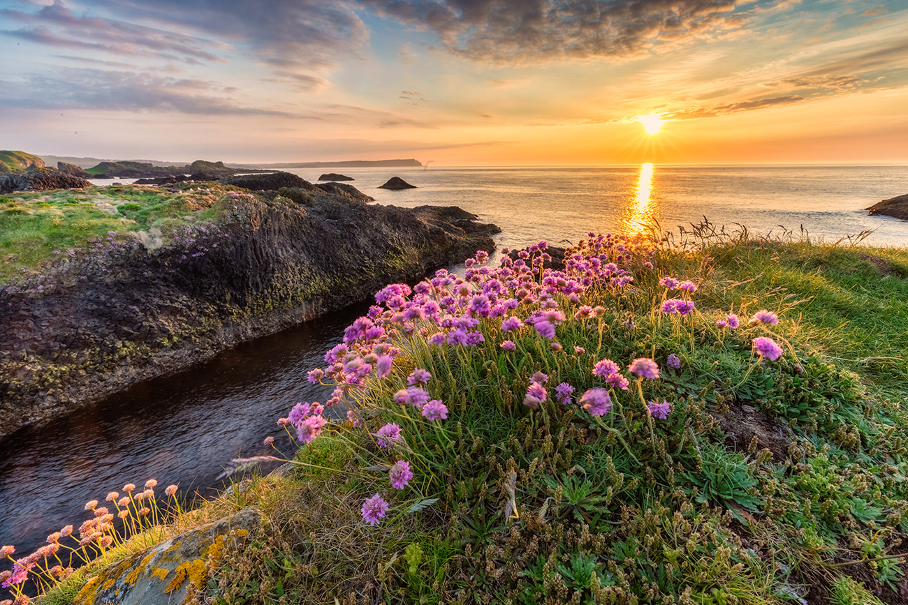 Sunset in northern Ireland