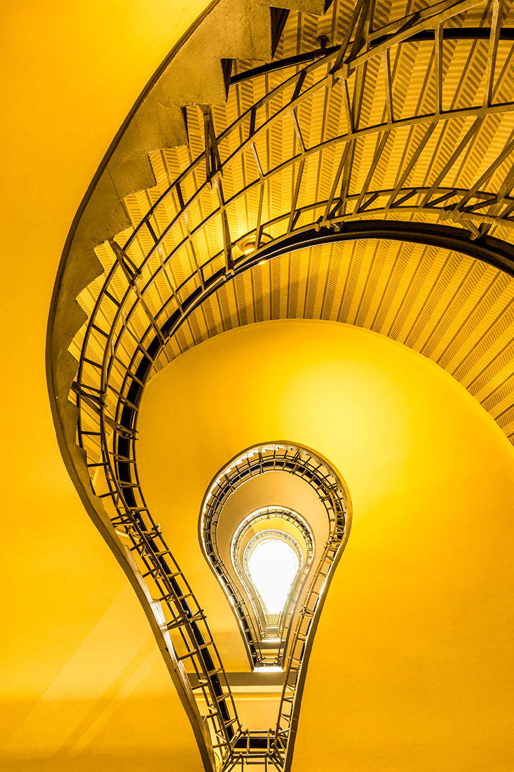 Spiral staircase in Prague