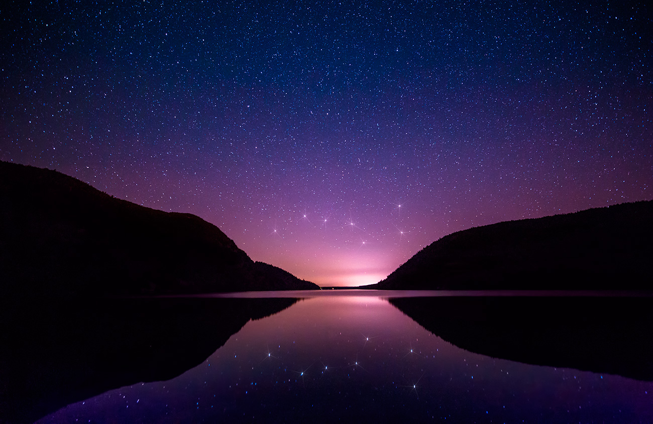 The Big Dipper over Acadia National Park in Maine