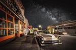 The Milky Way over old town Bisbee, Arizona