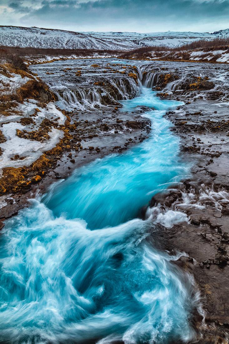 Bruerfoss waterfall in Iceland