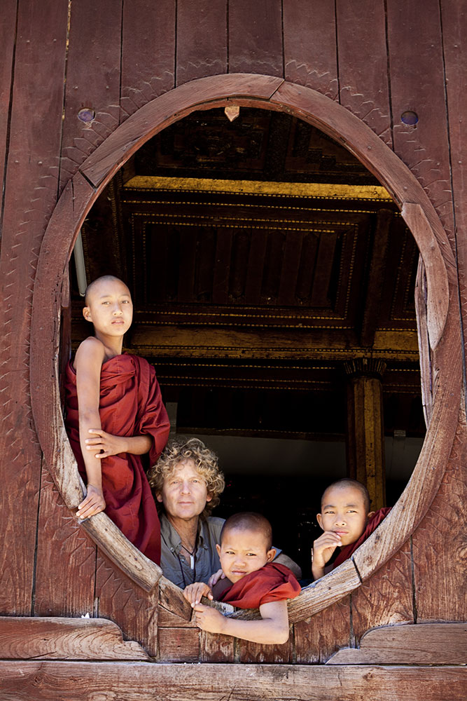 my little buddies in Inle Lake, Myanmar