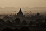 The temples of Bagan at sunrise