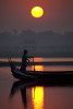 Sunrise by the Ubein Bridge in Mandalay