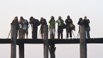 some of our group on the Ubein Bridge