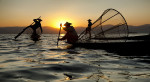 Sunset in inle lake, Myanmar