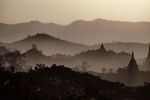 The mountains of Mrauk, Burma