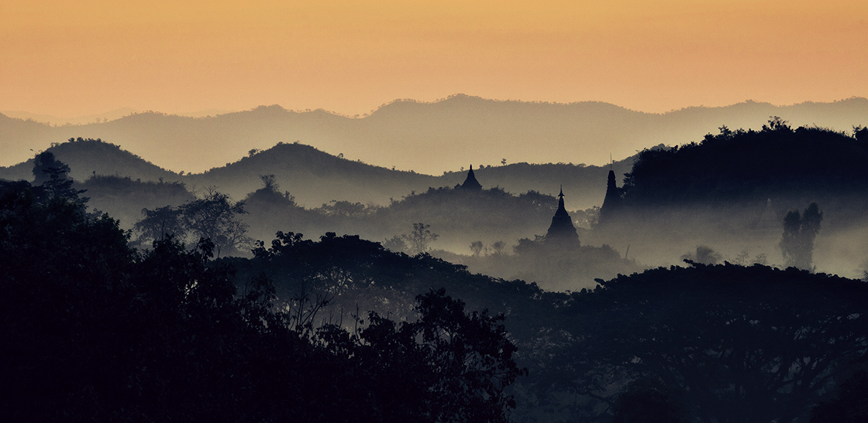 the amazing countryside of Mrauk, Myanmar