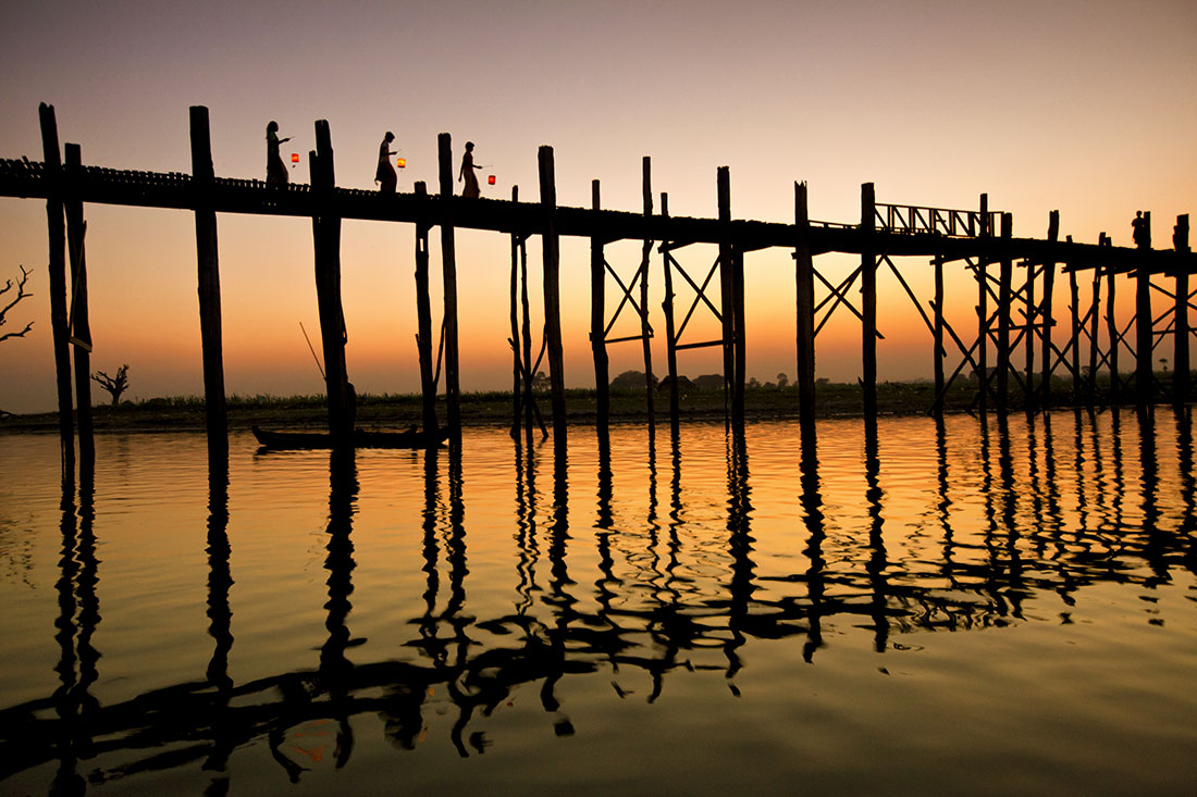 The Ubein Bridge, Mandalay, Myanmar