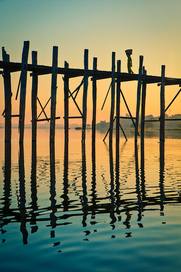 The Ubein Bridge of Mandalay
