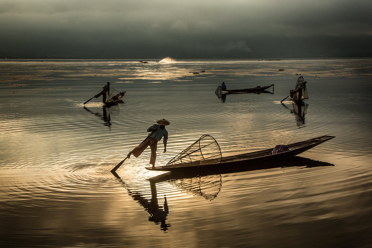 Inle Lake fishermen in Burma