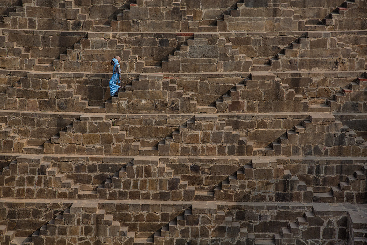 Chand Baori step well near Jaipur