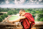 My little monk friend in Bagan, Burma
