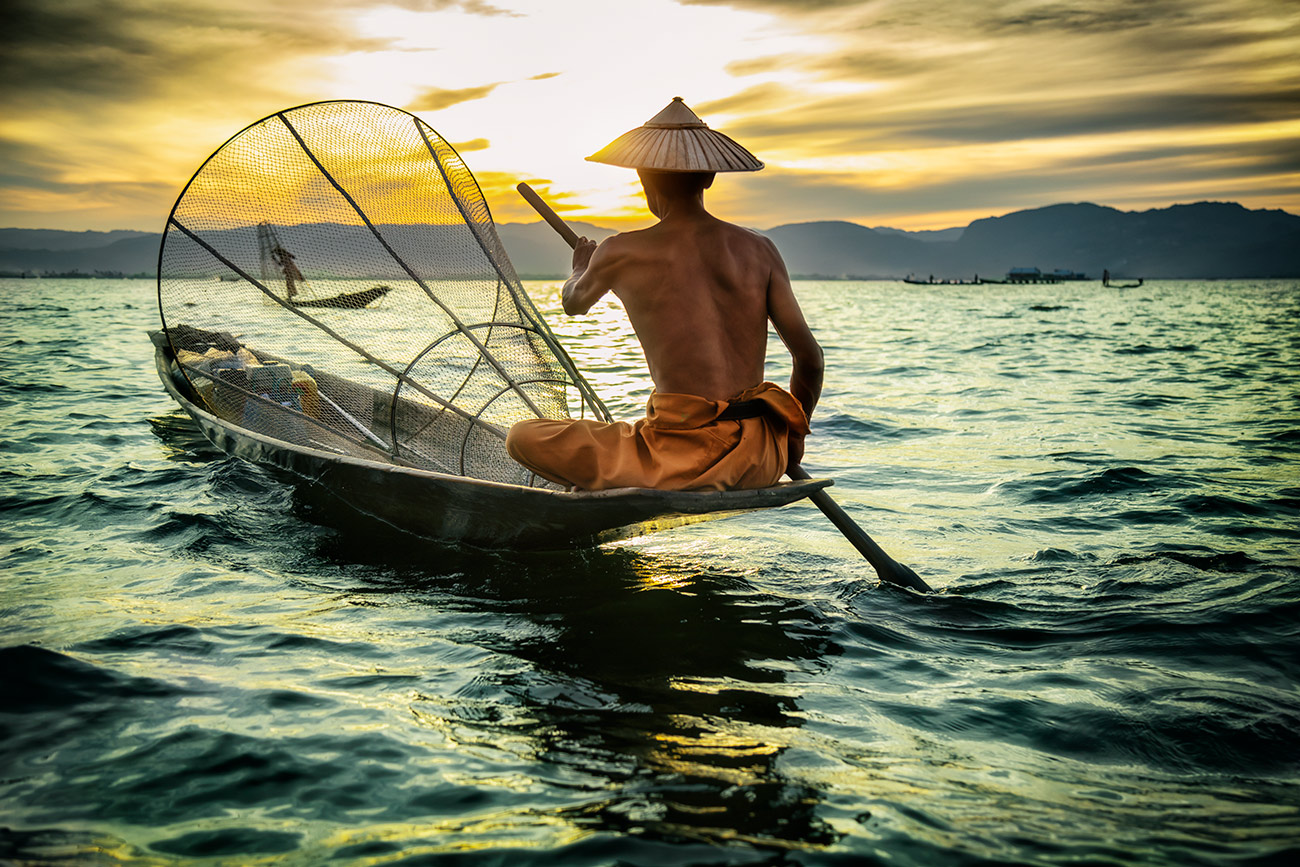 The fisherman of Inle Lake, Burma