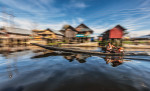 Boatman on Inle Lake, Burma