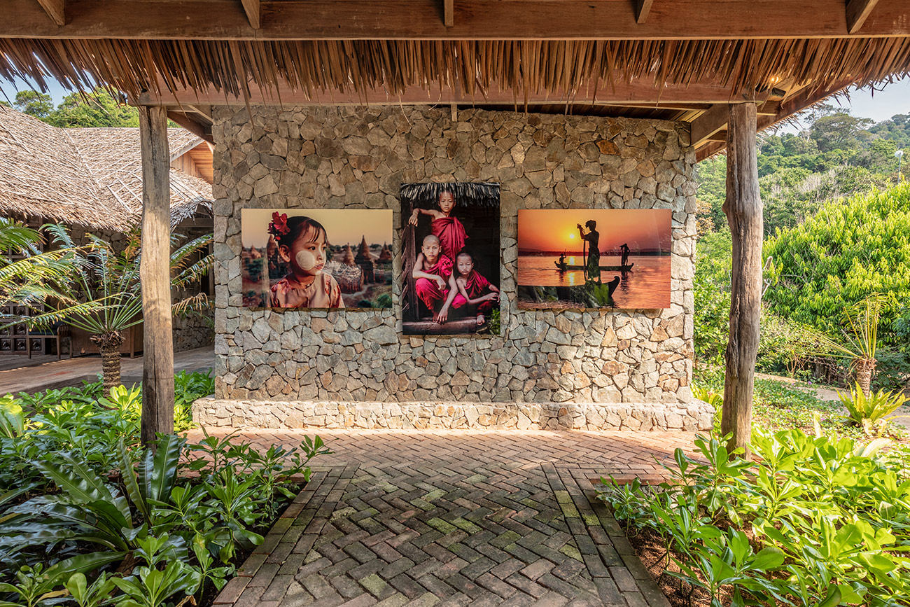 Our images up in amazing Wa Ale Resort in Burma