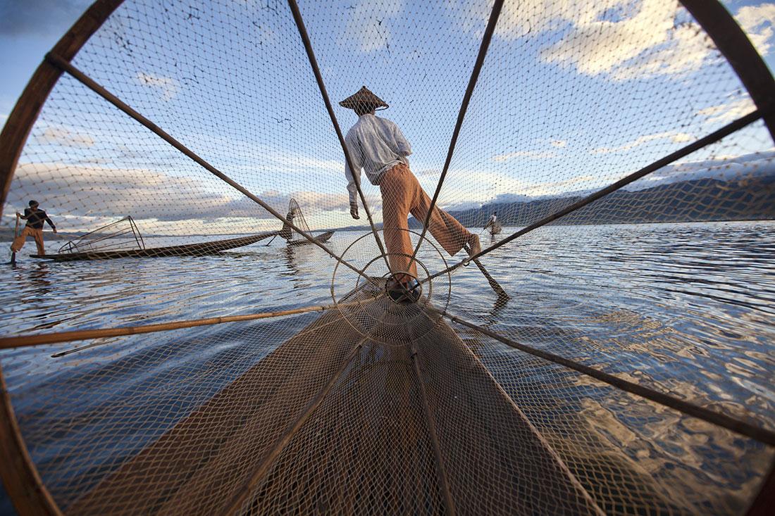 One legged firsherman of Inle Lake