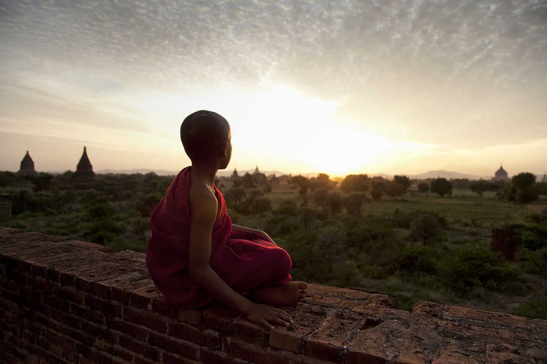 Sunset above Bagan