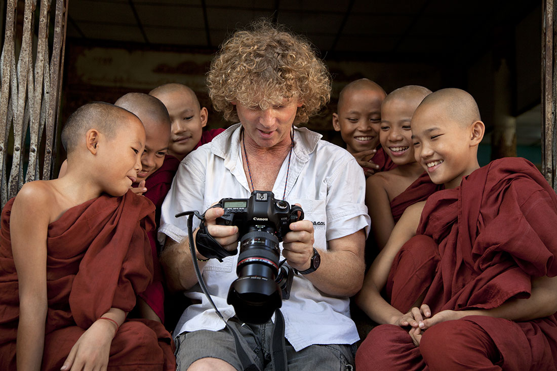 With my little pals in Yangon