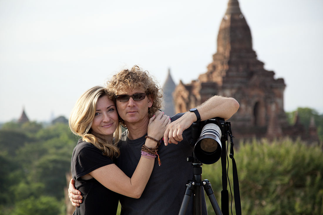 Holly and me in Bagan