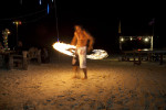 Fire dancers in Koh Phan Gan, Thailand