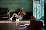 Photographing a monk master in Yangon