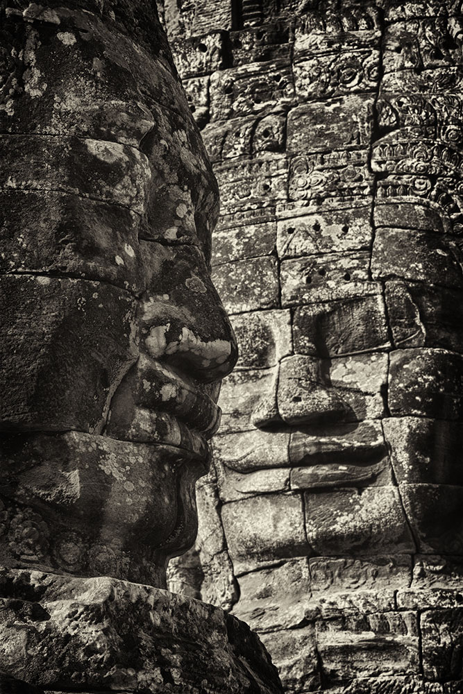 The faces of the Bayon at Angkor Wat