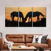 camargue_horses_orange_sky_sunrise_walls