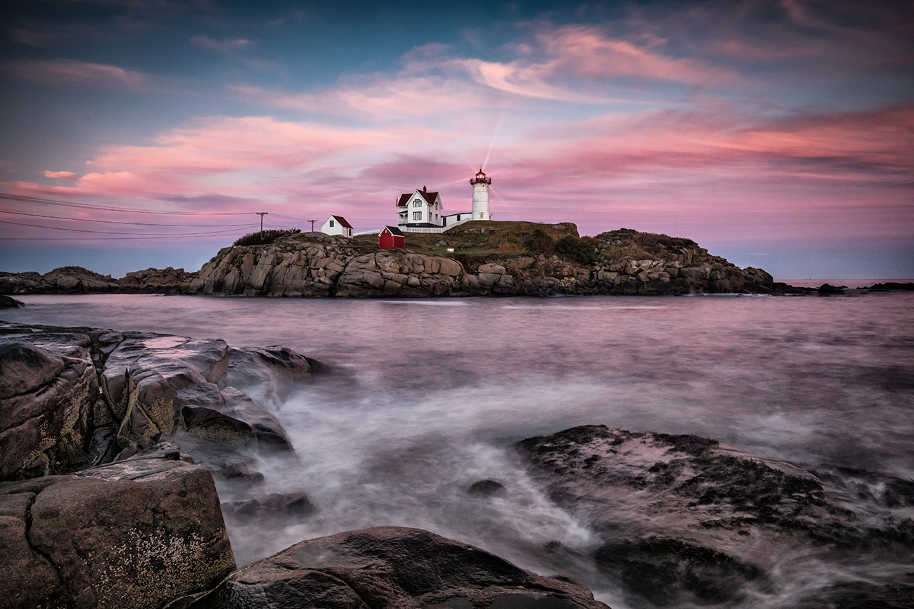 Nubble Lighthouse on the east coast of Maine