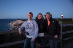 Danny, Holly and me by Gay Head Lighthouse