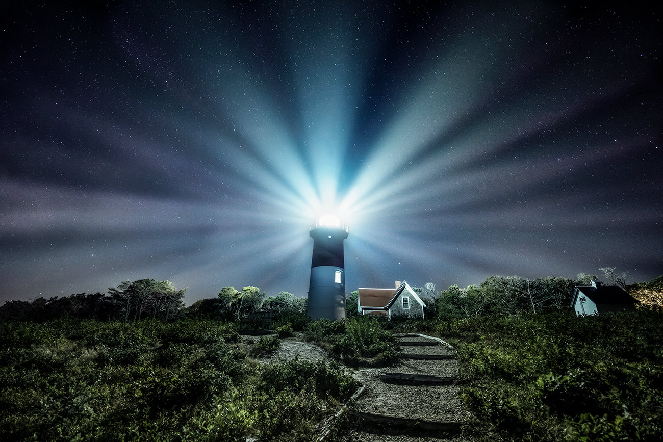 Nauset Lighthouse in Cape Cod, Massachusetts