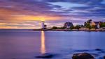 Beautiful Anisquam Lighthouse at sunset