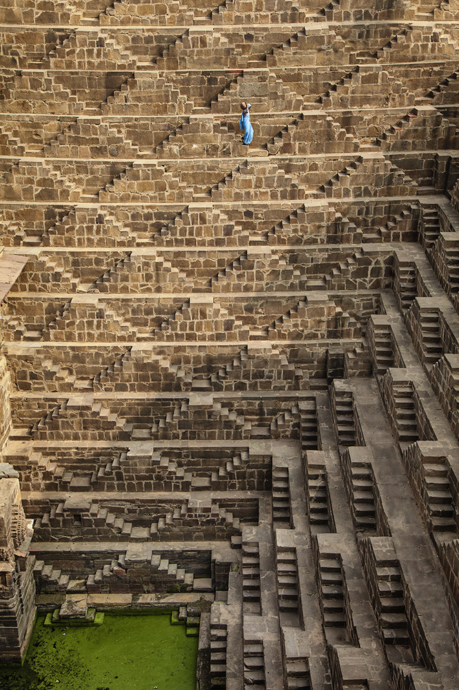 Chand Baori Stepwell outside of Jaipur, India