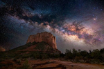 Milky Way over Courthouse Rock in Sedona