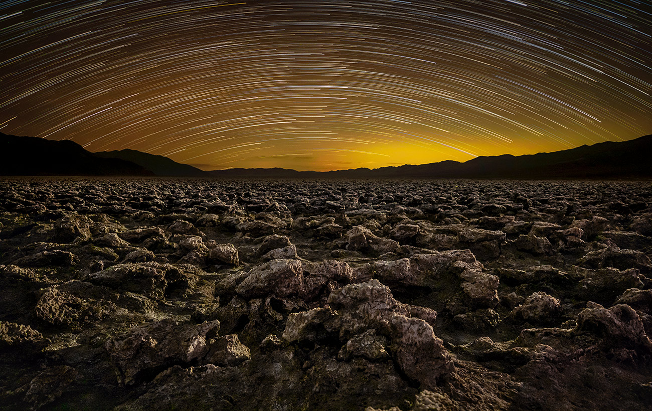 After dark at the Devils Golfcourse, Death Valley