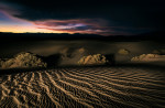 A little lightpainting in the sand dunes