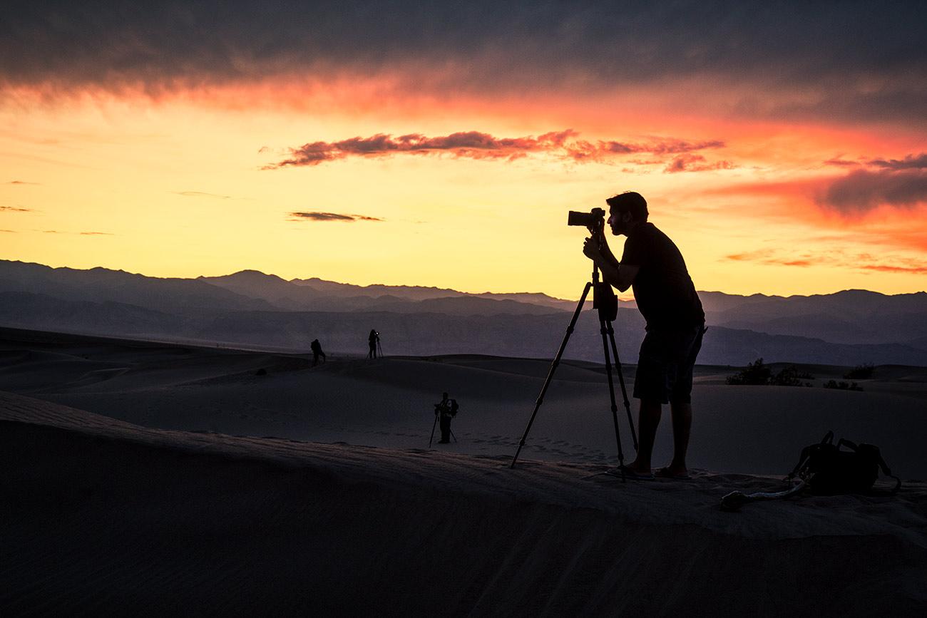 Imran at sunset on the dunes