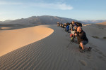 Sunrise on Mesquite sand dunes