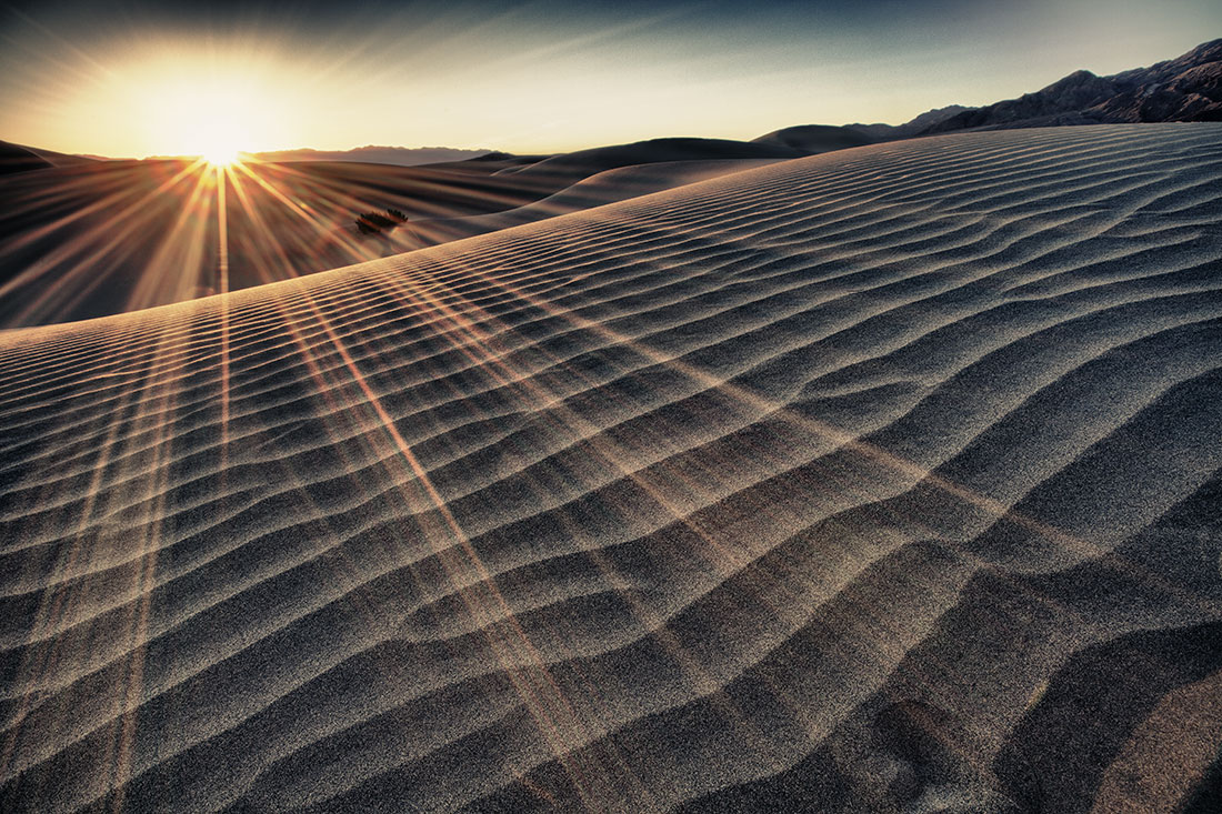 Sunrise at he Mesquite Sand Dunes