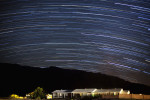 Star trails over Stovepipe Wells