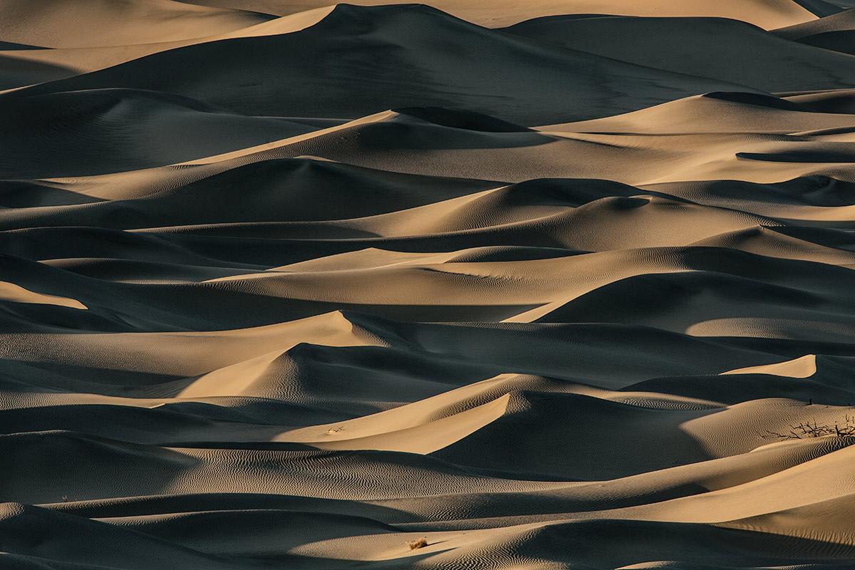 Sunset at the Mesquite Sand Dunes