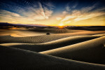 The Mesquite Sand Dunes in Death Valley