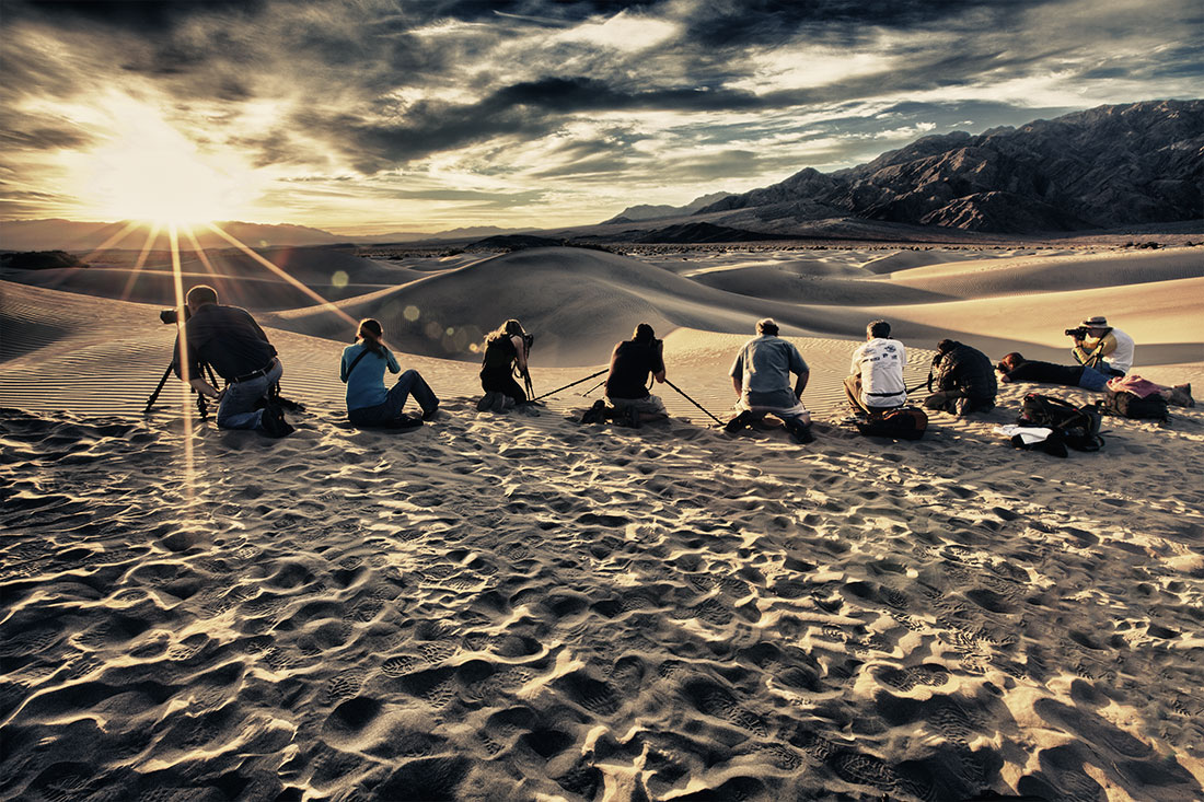 I will be leading a 5 day workshop on October 30th – November 3rd, 2013 in the incredibly photogenic environment of Death Valley, California. Located near the border of California & Nevada, Death Valley is filled with breathtaking desert scenery & unique geological formations. It's 3.3 million acres is home to rare desert wildlife, undisturbed wilderness, colorful rocks and canyons, unique evaporative salt features and miles of pristine sand dunes. It is magical place and is a photographers paradise and we will be photographing the graceful and ever-changing sand dunes, Zabriski Point, geological wonders and the infamous Racetrack. Death Valley's great diversity of landscapes makes it a rare and unique place for photography. Not only will be photographing these in the best light of sunrise and sunset but then return to photograph the amazing night sky. We have timed this workshop perfectly to be during the new moon, when no moon in present, to get dark skies. We will be up early and stay out late some nights to capture the right light and mood in our mages.  Death Valley's low rainfall and clear skies make it the perfect place for night photography. We will photograph stars as points of light, star trails, painting with light and other special techniques for photographing at night. It is an incredibly special place for photographing day and night and you will walk away with many new shooting skills.   ** As of April  - the workshop is full – please email me to put on the wait list **I have done workshops all over the world but absolutely love what Death Valley has to offer. Doing workshops in this amazing location gives people the chance to expand their horizons with their photography and hang out with others that share their passion. Just being out after dark, learning how to capture the night sky and chilling out under the Milky Way is incredibly addicting and ever time we are there it is different. I will be showing many different images from past trips to give everyone ideas and to help push their creativity and feel more comfortable with where and when we will be shooting. There won't be a lot of sleep on this workshop as we will be out late and up early and be totally immersed in trying to capture this pretty special part of the US.IN THIS WORKSHOP YOU WILL LEARN:• Stepping out of your comfort zone to create powerful & timeless images• How to scout out the best light & compositions• How to shoot the stars as points of light & star trails with multiple exposures.• Lightpainting techniques and which gear works best• Photoshop techniques including HDR & converting to black & white• Pushing the limits of your camera gear more than usual• Shooting with a super telephoto• Critiques of your imagesPlease click on this linkto read more about the Amazing Death Valley for 2014 workshop on my blog, which also has more photos and more info on the workshop.