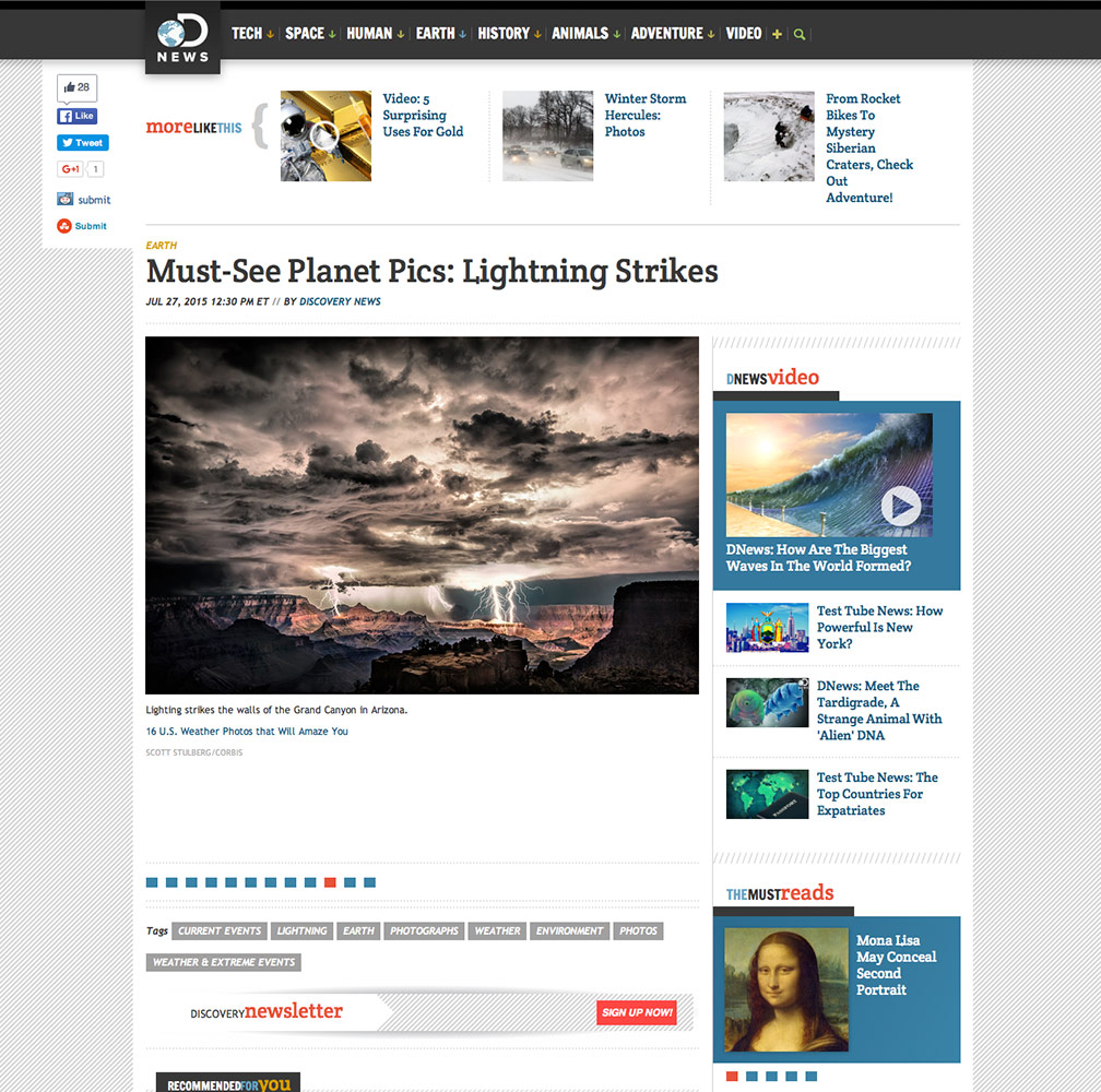 Lightning for Discover News